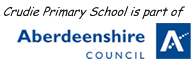 Crudie School is part of Aberdeenshire Council